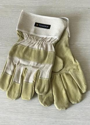 Перчатки рабочие tegera кожа