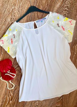 Нарядная белая блуза . блузочка. рубашка. Next
