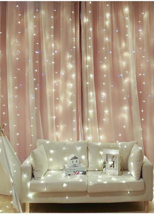Гирлянда - штора - 240 и 400 лампочек