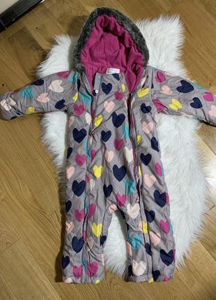 Новый зимний комбинезон для девочки 3-4 года, комбинезон зима