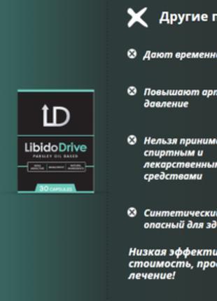 Libido Drive -Капсулы для потенции, Усиливает половое возбуждение
