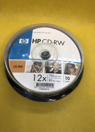 Компакт-диски перезаписываемые HP CD-RW 12x 700Mb