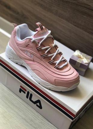 Женские кроссовки fila ray pink, фила киев оригинал!