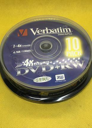 DVD+RW Verbatim 4,7GB 4x 10шт