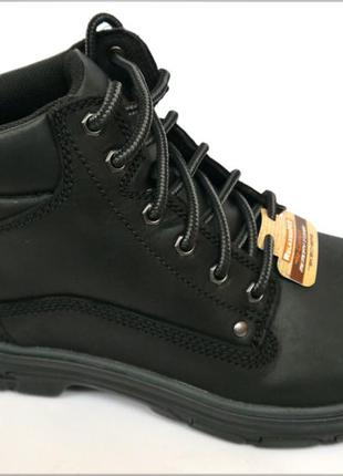 Черные ботинки skechers segment оригинал кожа 42 43