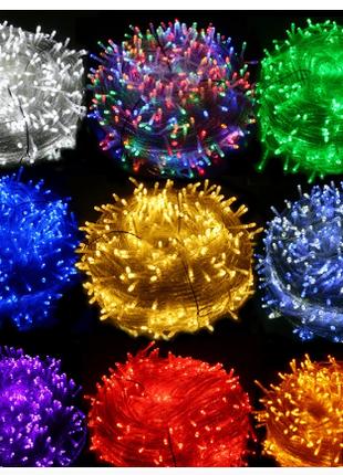 Гирлянды новогодние . Праздничное освещение . Рождество 2020 .