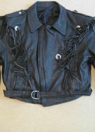 Куртка косуха, размер 60, кожаная