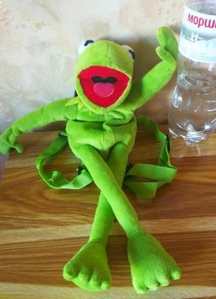 Детский рюкзак - игрушка кермит
