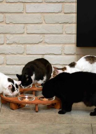 """Двойная приставная миска для кошек и собачек """"Circle"""""""