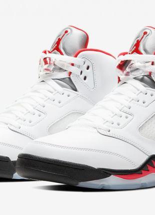 """Кроссовки, кросівки Nike Air Jordan 5 Retro """"Fire Red"""" 2020"""