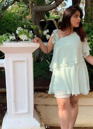Шикарное шифоновое платье с бантом - завязкой h&m
