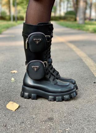 Ботинки Prada Monolith High