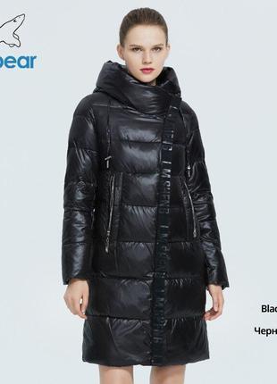 Пуховик женский зимний icebear. куртка теплая удлиненная с кап...