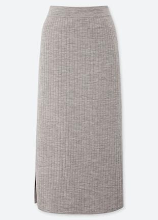 Женская юбка из мериносовой смеси uniqlo