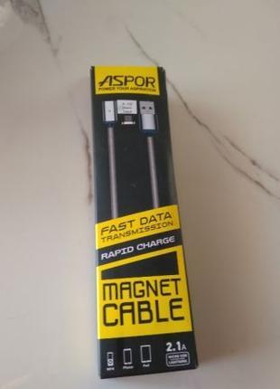Магнитный кабель Micro Usb в оплетке