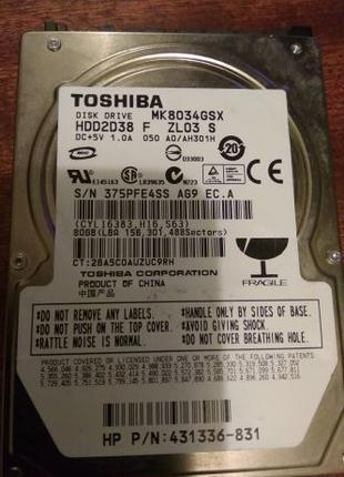 Жесткий диск Toshiba - MK8034GSX