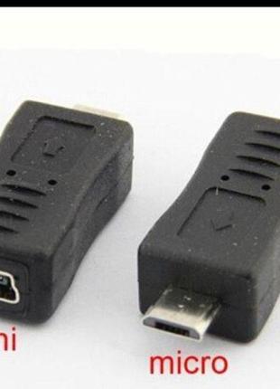 Переходник штек. micro USB- гн. mini USB