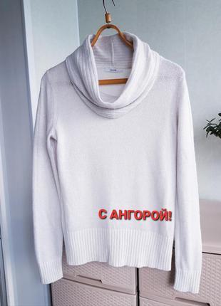Ангорой джемпер свитер george шерстяной ангоровый пуловер