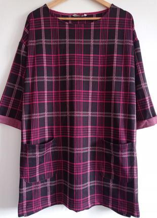 Теплое платье туника большого размера