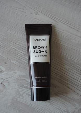 "Крем для рук ""тростниковый сахар"" farmasi brown sugar hand cream"