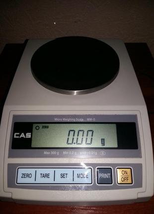 Весы лабораторные, ювелирные CAS MW-II-300, б/у