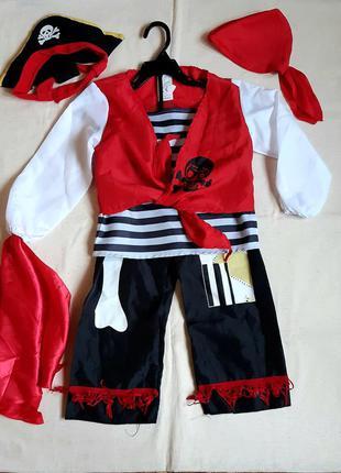"""Новогодний костюм """"пират"""" германия на 6 лет (116см)"""