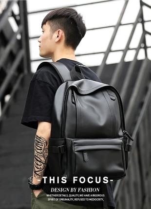 Кожаный рюкзак с usb. сумка портфель кожа. мужской рюкзак для ...