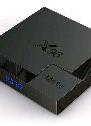 ⫸Smart TV X96 mate  4GB/32ГБ Alwinner H616  Android Box смарт ТВ
