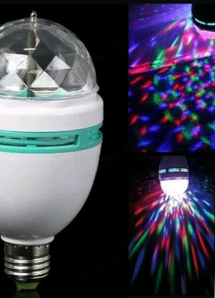 Диско лампа вращающаяся для вечеринок LED MINI