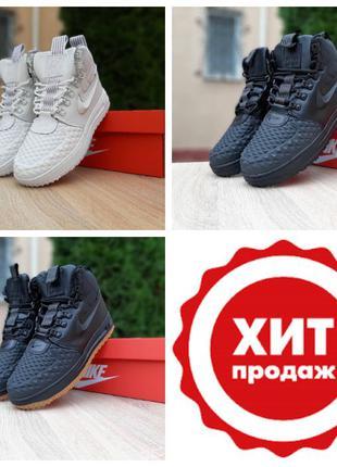 Зимние женские мужские ботинки кроссовки Nike Lunar Force Duck...