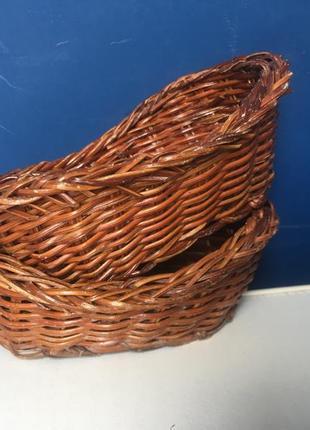 Набор из двух плетёных, декоративных корзинок