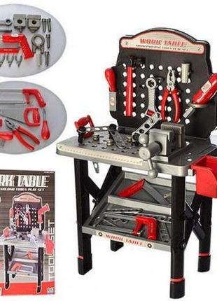 Детский игровой набор инструментов: верстак, дрель-вращ.сверло,