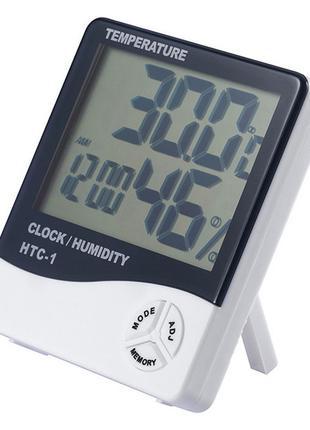 Термометр гигрометр часы будильник HTC 1