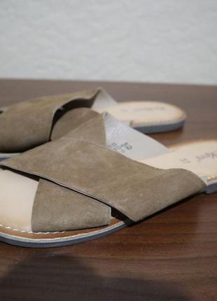 Классные мягкие легкие кожаные шлепанцы kickers 37 размер