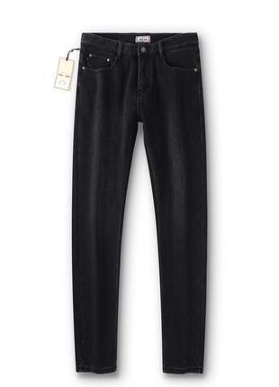 Зимние утепленные мужские джинсы на флисе