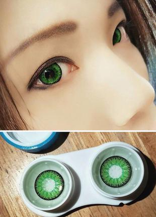 Яркие зеленые линзы для зрения