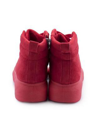 Женские зимние красные кроссовки