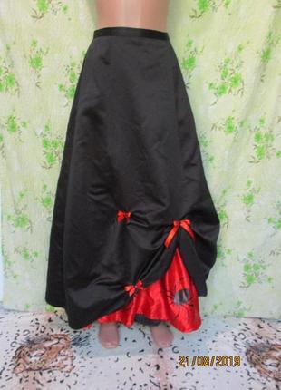Длинная пышная юбка на хэллоуин/принт пауки паутина halloween