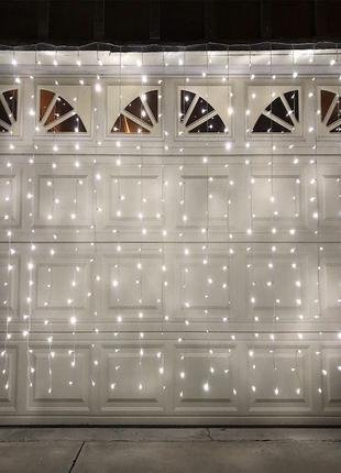 Гирлянда Водопад 3 х 2.5 м, 560 LED Соединяемая (Штора, Занавес)
