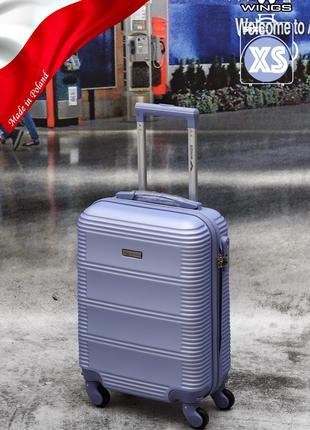Прочный надежный чемодан Wings 203 из поликарбоната+abc