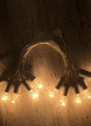 Ретро гирлянда для помещений LedGO, 5 метров 10 ламп накаливания