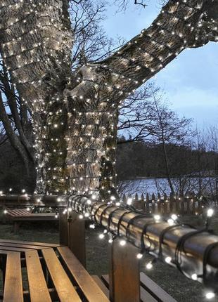 Гирлянда светодиодная уличная Нить, LedGO 10 м 100 LED холодны...