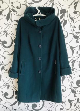 Пальто демисезонное кашемировое осень зима . размер 54