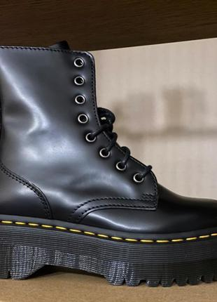 Ботинки dr. martens jadon — black polished smooth