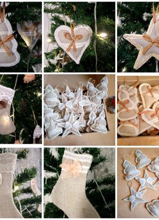 Новорічний декор. Різдвяний декор. Ялинкові прикраси, іграшки.