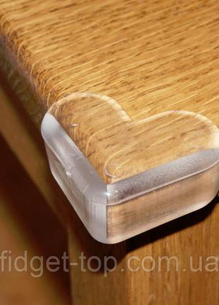 4 шт! Силиконовые уголки на мебель, накладки на острые углы