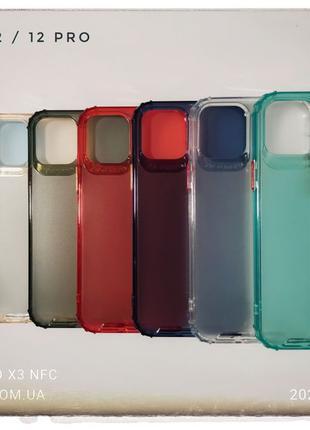 Противоударный матовый чехол airBag айфон iPhone XR 11 12 mini...