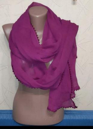 Шаль шарф палантин шикарный размер 255×62см.