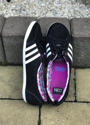 Женские кожаные кроссовки балетки adidas neo label  39р.оригинал