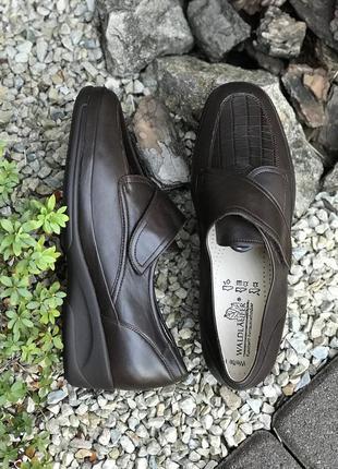 Фирменные новые кожаные женские туфли полуботинки waldläufer
